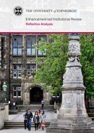 Reflective Analysis 2011 - University of Edinburgh