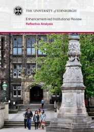 Reflective Analysis 2011 - University of Edinburgh