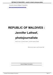 REPUBLIC OF MALDIVES  Jennifer Latheef photojournaliste