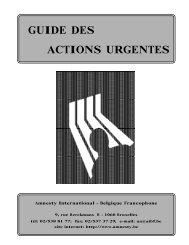 GUIDE DES ACTIONS URGENTES - AMNESTY INTERNATIONAL.be