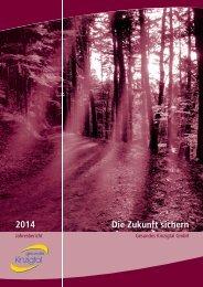 Gesundes Kinzigtal Jahresbericht 2014 – Die Zukunft sichern