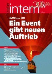 Intern Makler - Österreichischer Versicherungsmaklerring