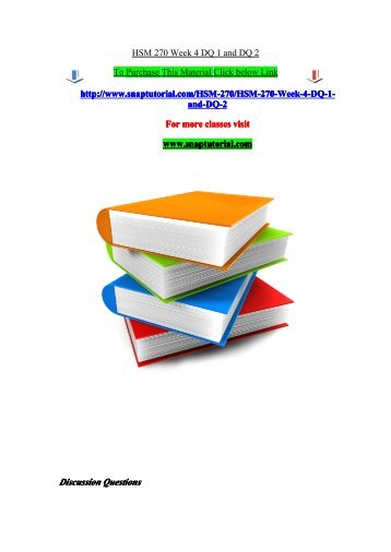 hsm week 3 dq 2 Essays - largest database of quality sample essays and research papers on hsm 240 week 1 dq 1.