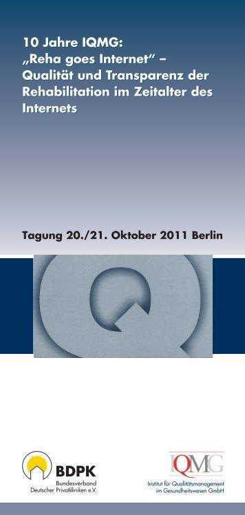 referenten - IQMG Institut für Qualitätsmanagement im ...