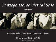 3º Mega Horse Virtual Sale