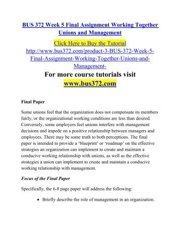management 100 assignment 1 final Mgt 101 principles of management final exam answer https: 1 points 36 the assignment of various portions of a particular task among a number of.