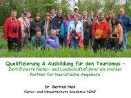 Qualifizierung & Ausbildung für den Tourismus
