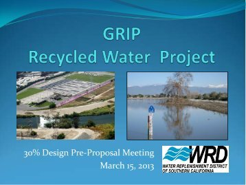 30% Design Pre-Proposal Meeting - Water Replenishment District of ...