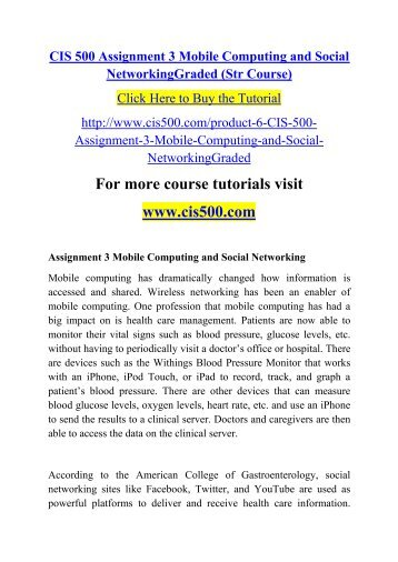 term paper mobile computing and social networks
