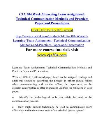 cja 304 technology and communication paper