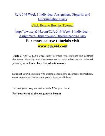 Disparity and discrimination essay topics