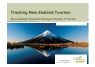Tracking New Zealand Tourism