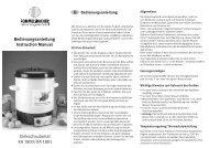 Bedienungsanleitung Instruction Manual