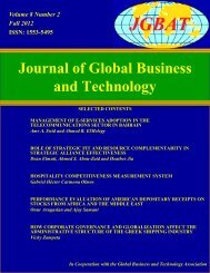 Journal of Global Business and Technology
