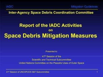 Space Debris Mitigation Measures