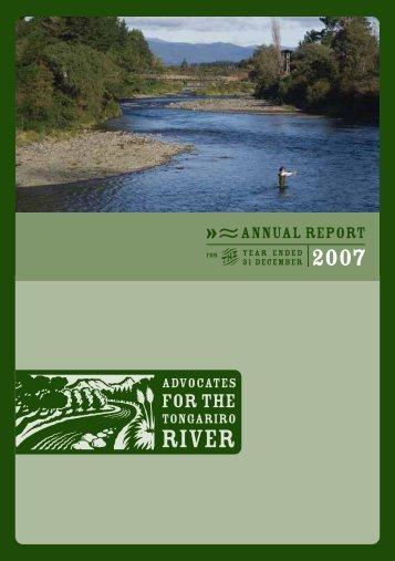 ANNUAL REPORT - Advocates for the Tongariro River