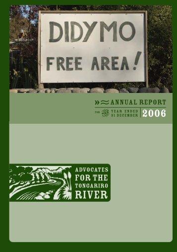 TON 11899 Annual Rep Cover v3 - Advocates for the Tongariro River