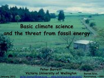 Basic climate science and the threat from fossil energy