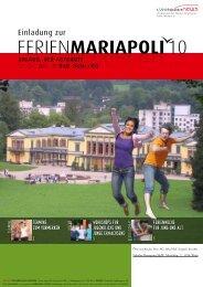 FERIENMARIAPOLI10 - Fokolar Bewegung Österreich