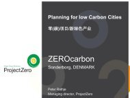 Planning for Low Carbon Cities
