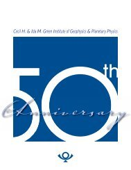 Cecil H & Ida M Green Institute of Geophysics & Planetary Physics
