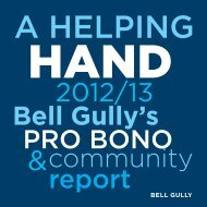 A Helping Hand - Bell Gully