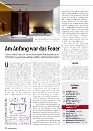 Am Anfang war das Feuer - Heidemann GmbH - Haustechnik