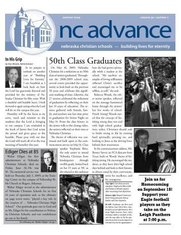 Vol. 39-2 - Nebraska Christian Schools