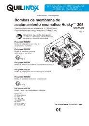 Bombas de membrana de accionamiento neumático ... - Quilinox