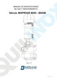 Válvula MIXPROOF B925 - B925B