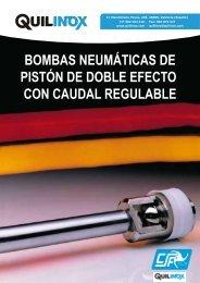 BOMBAS NEUMÁTICAS DE PISTÓN DE DOBLE EFECTO CON CAUDAL REGULABLE