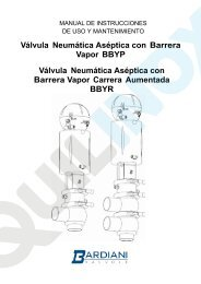 Válvula Neumática Aséptica con Barrera Vapor BBYP ... - Quilinox