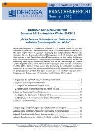 Sommer 2012 - DEHOGA Bundesverband