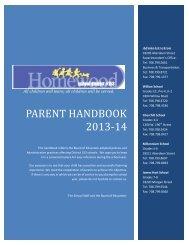 Parent Handbook - Homewood School District 153