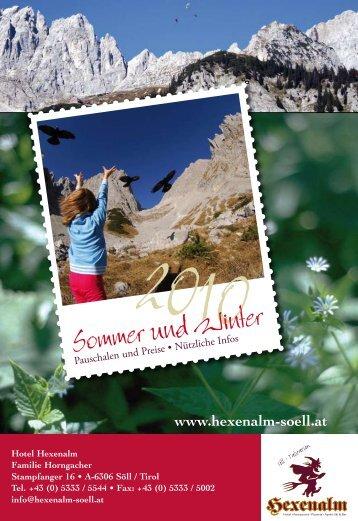 Sommer und Winter - Hexenalm