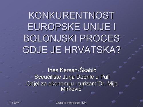 konkurentnost europske unije i bolonjski proces gdje je hrvatska?