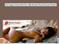 Get Enjoy Escort Service with Sweta Tiwari Escort Portal