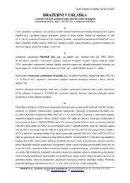 Dražební vyhláška Vodovody a kanalizace ... - FINANCE Zlín, as