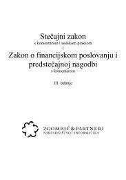 Stečajni zakon Zakon o financijskom poslovanju i predstečajnoj nagodbi