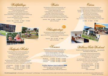 Arrangements - Hotel und Restaurant Seeklause