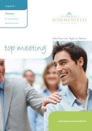 Neue vom Tagen im Grunen - Tagungen und Seminare im Hotel am ...