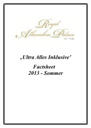"""""""Ultra Alles Inklusive' Factsheet 2013 - Sommer - Stone Group Hotel"""