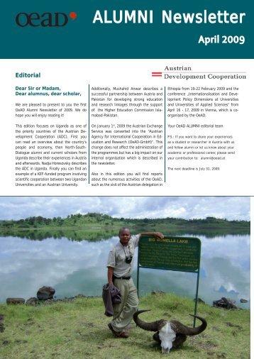 ALUMNI Newsletter - Österreichischer Austauschdienst