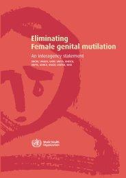 Eliminating Female genital mutilation