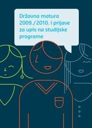 Državna matura 2009./2010 i prijave za upis na studijske programe