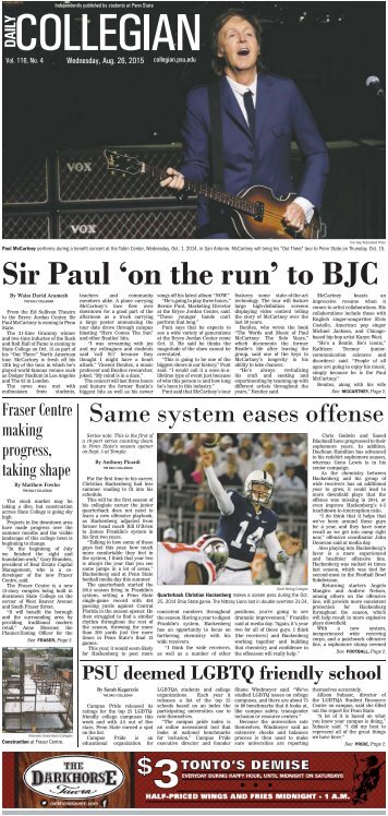 Sir Paul 'on the run' to BJC