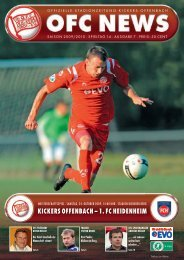 KICKERS OFFENBACH – 1. FC HEIDENHEIM
