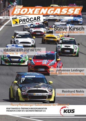 Die Boxengasse, Ausgabe Nr. 06 - Sachsenring - Saison 2015 (#28)