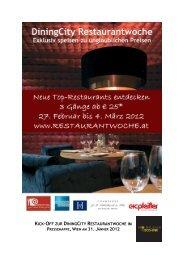 KICK-OFF ZUR DININGCITY RESTAURANTWOCHE IM - Havel & Petz