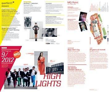 2012 MQ Program - MuseumsQuartier Wien
